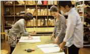 型紙の基本的な作り方の説明と練習